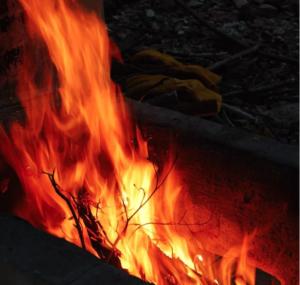 火おこし&猪食べよう!節分焚火大会